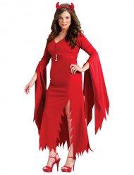 Verführerisches Teufelin-Damenkostüm rot