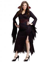Verführerische Vampirin-Damenkostüm schwarz