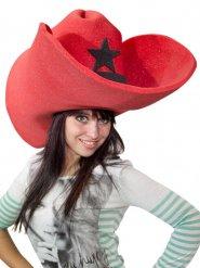 Riesen Cowboyhut rot für Erwachsene