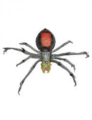 Schaurige Spinne Halloween-Deko grau-rot 45cm