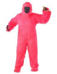 Verrücktes Gorilla-Affenkostüm für Erwachsene pink-schwarz