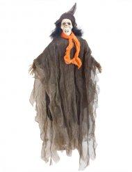 Hängendes Skelett Halloween-Dekofigur grau-grün 90cm