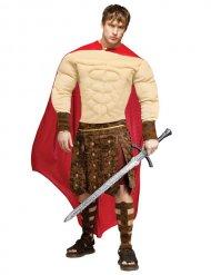 Antikes Römerkostüm für Herren Gladiator beige-rot-braun