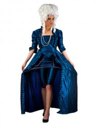 Historisches Barock-Damenkostüm Showgirl blau