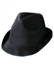 Schwarzer Gangster-Hut für Erwachsene Trilby