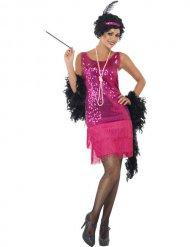 20er Jahre Kostüm Dame rosa Hut