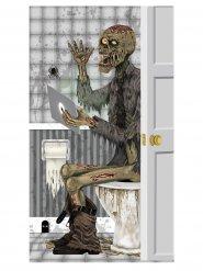 Tür-Dekoration für Halloween Zombie-Badezimmer grau 76x152cm