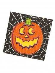 Halloween Kürbis-Servietten 16 Stück bunt