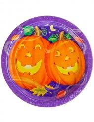 Halloween Kürbisse Platte 23 cm