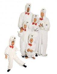 Plüsch-Eisbär-Kostüm Erwachsene