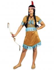 Indianerin Kostüm türkis mit Fransen Damen