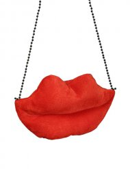 Tasche in Lippenform Pin up 50er rot