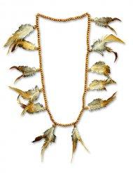 Indianer Halskette mit Perlen und Federn Damen