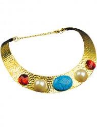 Cleopatra Halskette mit goldenem Stein Damen