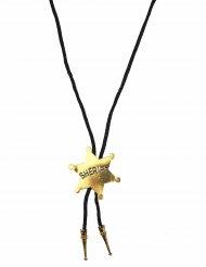 Sheriff goldene Halskette Erwachsene
