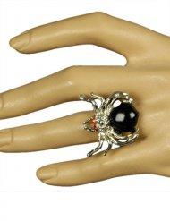 Gothic Spinnen-Ring für Damen schwarz-silber