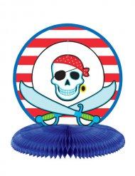 Piraten-Tischdeko Kindergeburtstag blau-weiss-rot 24 cm