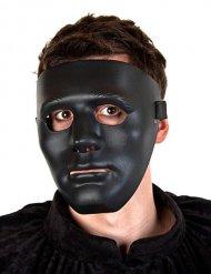 Maske Geistgesicht schwarz Halloween