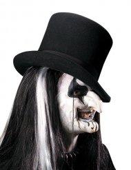 Harlekin Horror-Latexapplikation 2-teilig Halloween weiss