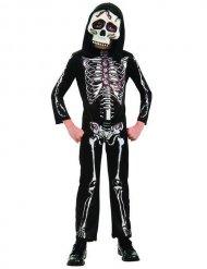 Skelett-Kostüm für Kinder Halloween schwarz-weiß