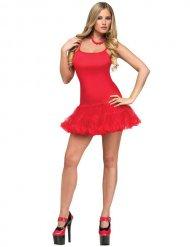 Sexy Tänzerin-Showgirl Petticoat-Kleid rot