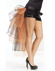 Burlesque-Tüllrock für Damen Faschings-Accessoire orange