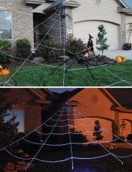 Spinnennetz Halloween-Dekoration Spinne weiss