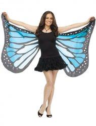Zauberhafte Schmetterlings-Flügel Kostüm-Accessoire blau-schwarz