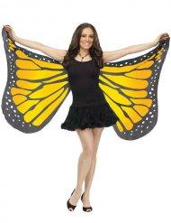 Zauberhafte Schmetterlings-Flügel Kostümzubehör schwarz-gelb