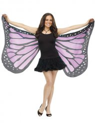 Schmetterlings-Flügel Kostüm-Zubehör schwarz-lila