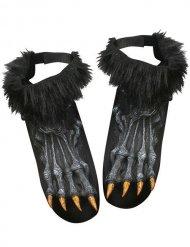 Monster Werwolf Schuhüberzieher schwarz