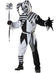 Verkleidung Böser Harlekin schwarz-weiß
