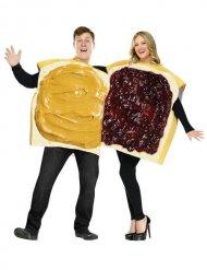 Erdnussbutter-Marmelade-Paarkostüm gelb-rot