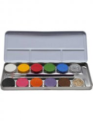 Make-up-Palette 12 Farben und Glitzer