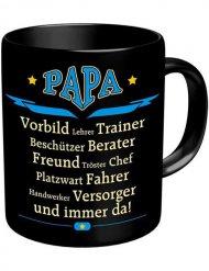 Papa Tasse Kaffeebecher schwarz Vatertag