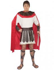 Gladiator-Kostüm für Erwachsene weiß-braun-rot