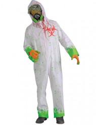 Radioaktives Zombie-Kostüm für Herren Halloween weiss-grün