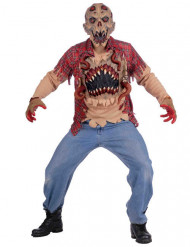 Verstrahltes Alien-Monster Halloween-Kostüm braun-rot