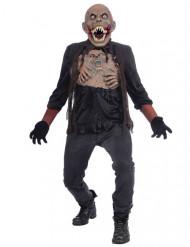 Zombie-Monster Herrenkostüm für Halloween schwarz-braun