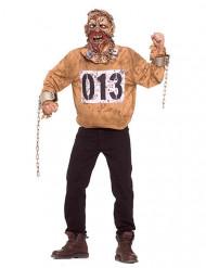 Zombie-Gefangener Halloween-Verkleidung braun-grau