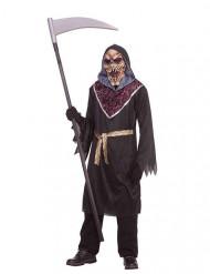Gruseliges Sensenmann-Kostüm für Herren Halloween schwarz-lila