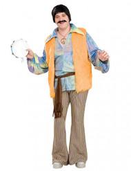 60er-Jahre Verkleidung für Herren Hippie bunt