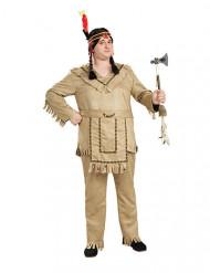 Indianer Häuptling-Kostüm Western beige