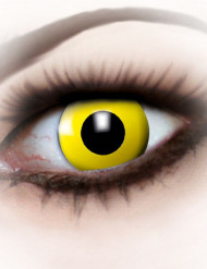 Fantasy-Kontaktlinsen gelbes Auge Halloween-Make-up gelb