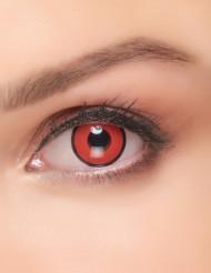 Kontaktlinsen rot und schwarz Kostüm Erwachsene