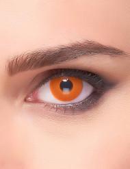 Feurige Kontaktlinsen Halloween und Karneval orange