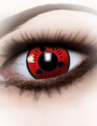 Kontaktlinsen fancy red Erwachsene