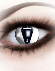 Kontaktlinsen extravaganter schwarz Erwachsene Halloween