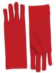 Rote kurze Handschuhe Damen