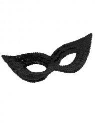 Venezianische Augenmaske mit Pailletten schwarz